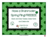 Leprechaun Glyph FREEBIE!  Clean Desks, Collect Data and Celebrate!