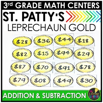 Leprechaun Gold Addition and Subtraction March Monthly Mat