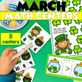 March Math Centers  St. Patricks Day 8 Math Stations