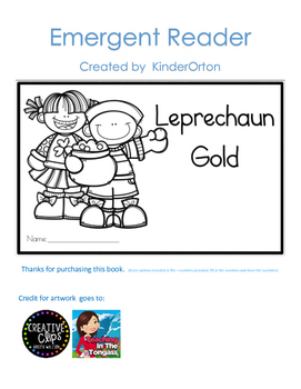 Leprechaun Gold - Emergent Reader