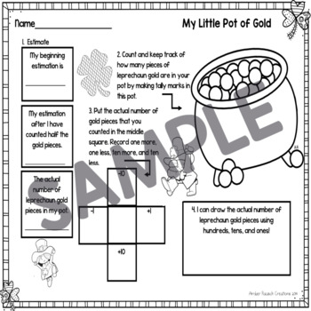 St. Patrick's Day Counting and Estimation Math Activities