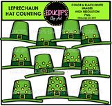 Leprechaun Hat Counting Clip Art  {Educlips Clipart}