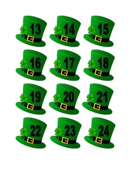 Leprechaun Hat Numbers for Calendar or Math Activity