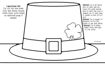 picture about Leprechaun Hat Printable titled Leprechaun Hat Printable Craft