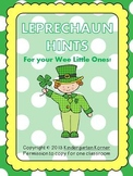 Leprechaun Hints for your wee little ones!