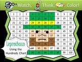Leprechaun Hundreds Chart Fun - Watch, Think, Color Game!