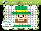 Leprechaun Hundreds Chart Fun - Watch, Think, Color Game!