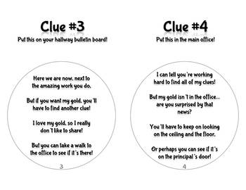 Leprechaun Hunt Clues!  (Freebie! In Color & Black and White)