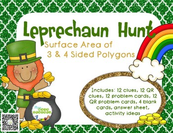 Leprechaun Hunt: Surface Area of 3 & 4 Sided Polygons