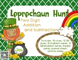 Leprechaun Hunt: Two Digit Addition and Subtraction