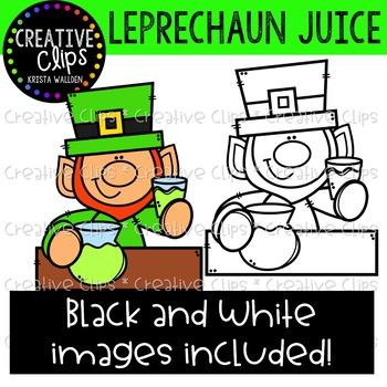 Leprechaun Juice: St. Patrick's Day Clipart {Creative Clips Clipart}
