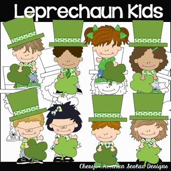 Leprechaun Kids Clipart Collection