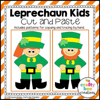 Leprechaun Kids Cut and Paste