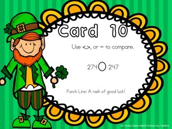 Leprechaun Laughs- A Math Review and St. Patrick's Day Joke Walk the Room Gr.2