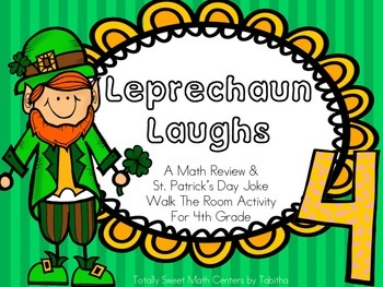 Leprechaun Laughs- A Math Review and St. Patrick's Day Jok