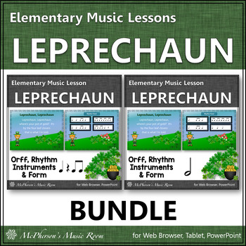 St. Patrick's Day Music: Leprechaun: Orff, Rhythm, Instruments and Form {Bundle}