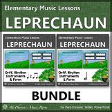 St. Patrick's Day Music: Leprechaun: Orff, Rhythm, Instruments and Form {Bundle}