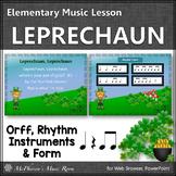 St. Patrick's Day Music: Leprechaun: Orff, Rhythm, Instruments and Form {Eighth}