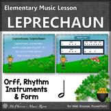 St. Patrick's Day Music: Leprechaun: Orff, Rhythm, Instruments and Form {Half}