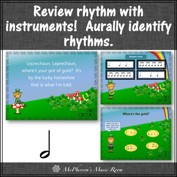 St. Patrick's Day Music: Leprechaun: Orff, Rhythm, Instruments and Form {Half}