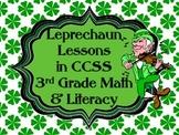 Leprechaun Lessons CCSS 3rd Grade Math & Literacy