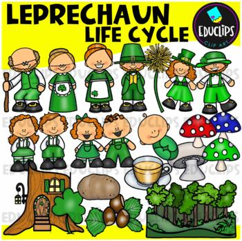Leprechaun Life Cycle Clip Art Bundle {Educlips Clipart}
