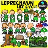 Leprechaun Life Cycle Clip Art Set {Educlips Clipart}