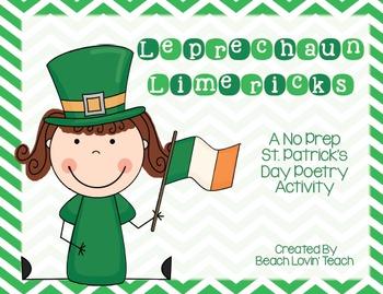 Leprechaun Limerick Activity