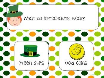 St. Patrick's Day! NO PREP Auditory Comp Pre-K-Grade 1 (Speech & Language)