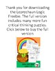 Early Finishers Spring St. Patrick's Day Leprechaun Logic Freebie