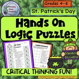 St. Patrick's Day Logic Puzzle, Hands On, Critical Thinking!