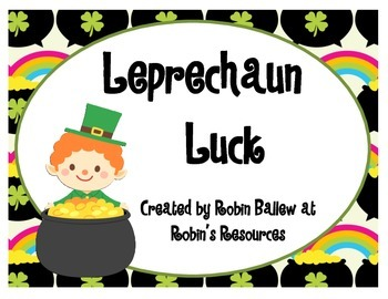 St. Patrick's Day: Reading initial and final blends and di