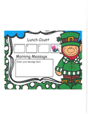 Leprechaun Lunch Count and Morning Message