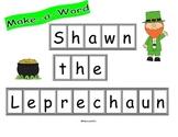 Leprechaun Make a Word and Math Problem Solving Common Core