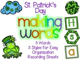 St. Patrick's Day Making Words