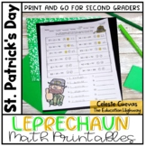 St. Patrick's Day Leprechaun Math Printables