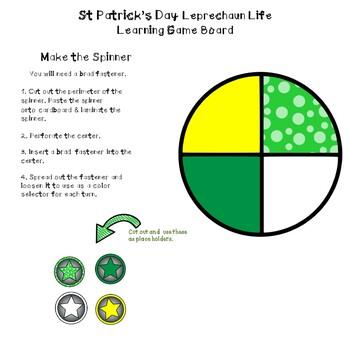 Leprechaun Math Learning Game Board