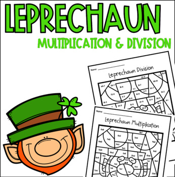 Leprechaun Multiplication Division Color by Number