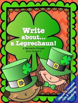 Leprechaun Narrative Essay Writing Prompt Common Core TNReady Aligned