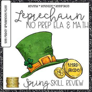 St. Patrick's Day Leprechaun No Prep Printables for Math and Literacy