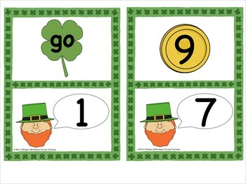 Leprechaun Number Bond Loop Cards