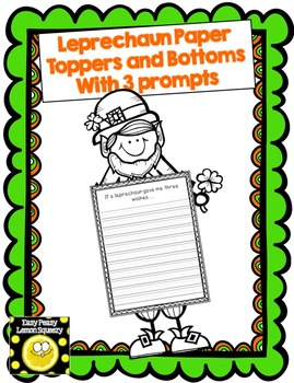 Leprechaun Page Topper and Bottom with 3 Writing Prompts