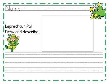 Leprechaun Pal Writing