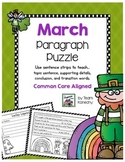 Paragraph Puzzle - March: Lucky Leprechaun