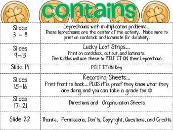 Leprechaun Pile It On... Math fun for older kids
