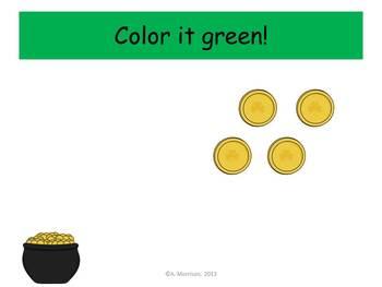 Leprechaun Place Value - Watch, Think, Color!