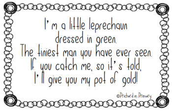 Leprechaun Poem Activity FREEBIE