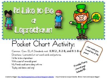 Leprechaun Poem Pocket Chart Activity