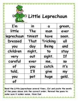 Leprechaun Poetry Station