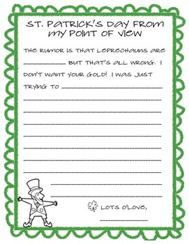 Leprechaun Point of View {St. Patrick's Day}